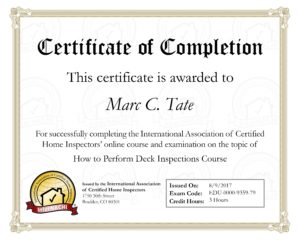 Deck Inspections in Northeast Ohio